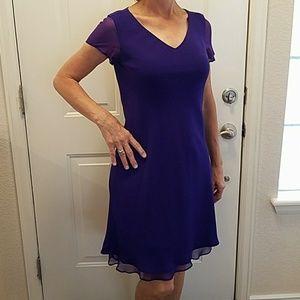 Jones New York dress dark purple lined formal 6